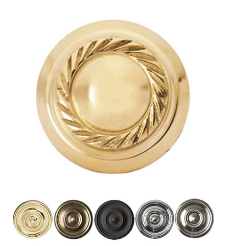 Solid Brass Georgian Roped Round Cabinet & Furniture Knob