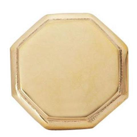 Solid Brass Beveled Octagon Cabinet and Furniture Knob