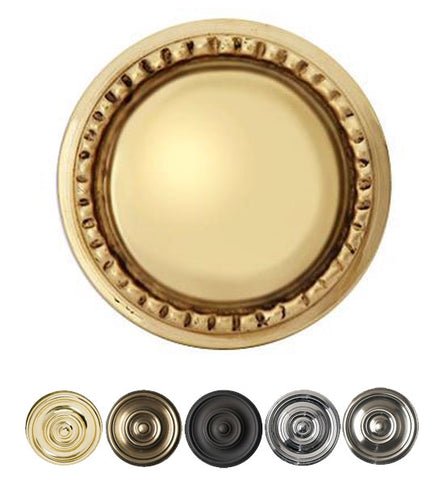 Solid Brass Victorian Beaded Round Cabinet & Furniture Knob