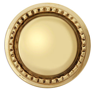 1 1/2 Inch Solid Brass Beaded Round Knob