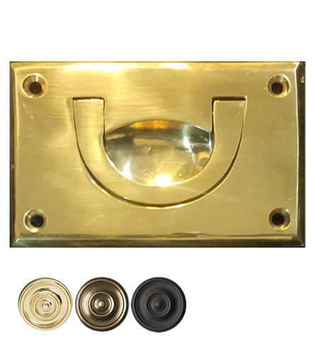 Solid Brass Recessed Drop Pull