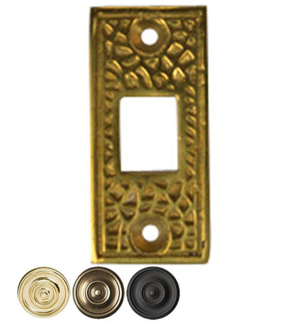 Solid Brass Craftsman Pocket Door Strike Plate