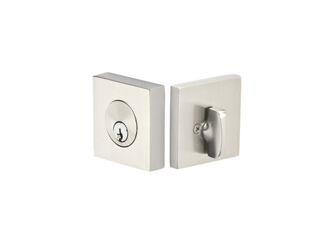 Brass Square Style Keyed Deadbolt Several Finishes Available