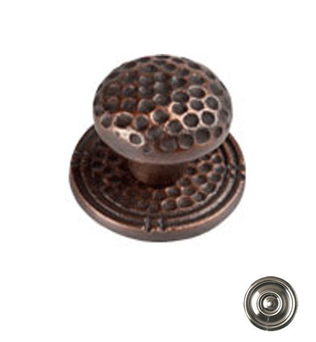 Mission Style Solid Copper Small Round Cabinet & Furniture Knob