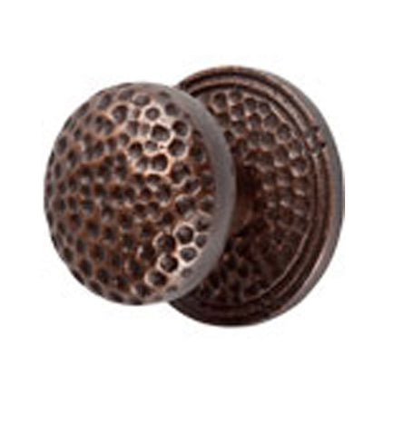 Mission Style Solid Copper Large Round Cabinet & Furniture Knob