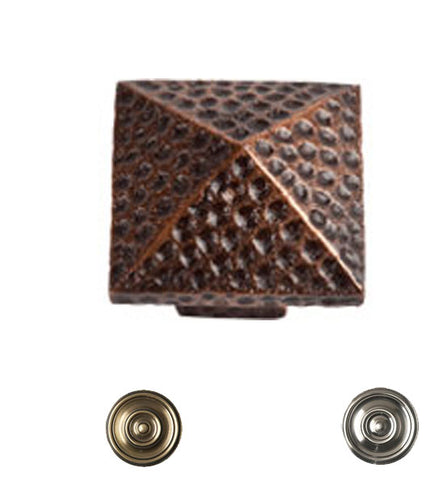 1 Inch Craftsman Style Solid Copper Small Pyramid Knob
