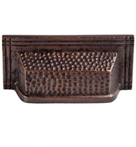 4 Inch Solid Copper Rectangular Bin Pull