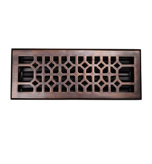 12 x 4 Inch Solid Copper Floor Register With Damper