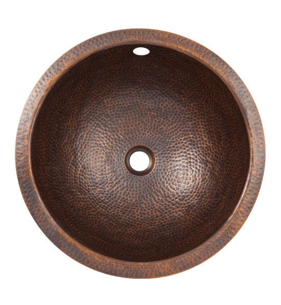 12 Inch Solid Copper Small Round Undermount Sink