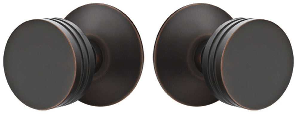 Solid Brass Bern Door Knob Set With Modern Rosette (Several Finishes)