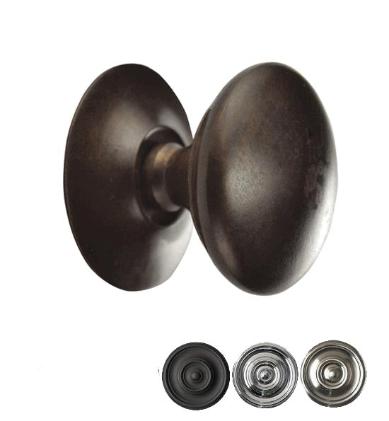 Traditional Solid Brass Round Cabinet & Furniture Knob