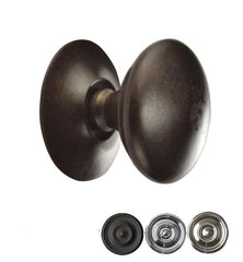 1 Inch Traditional Solid Brass Round Knob
