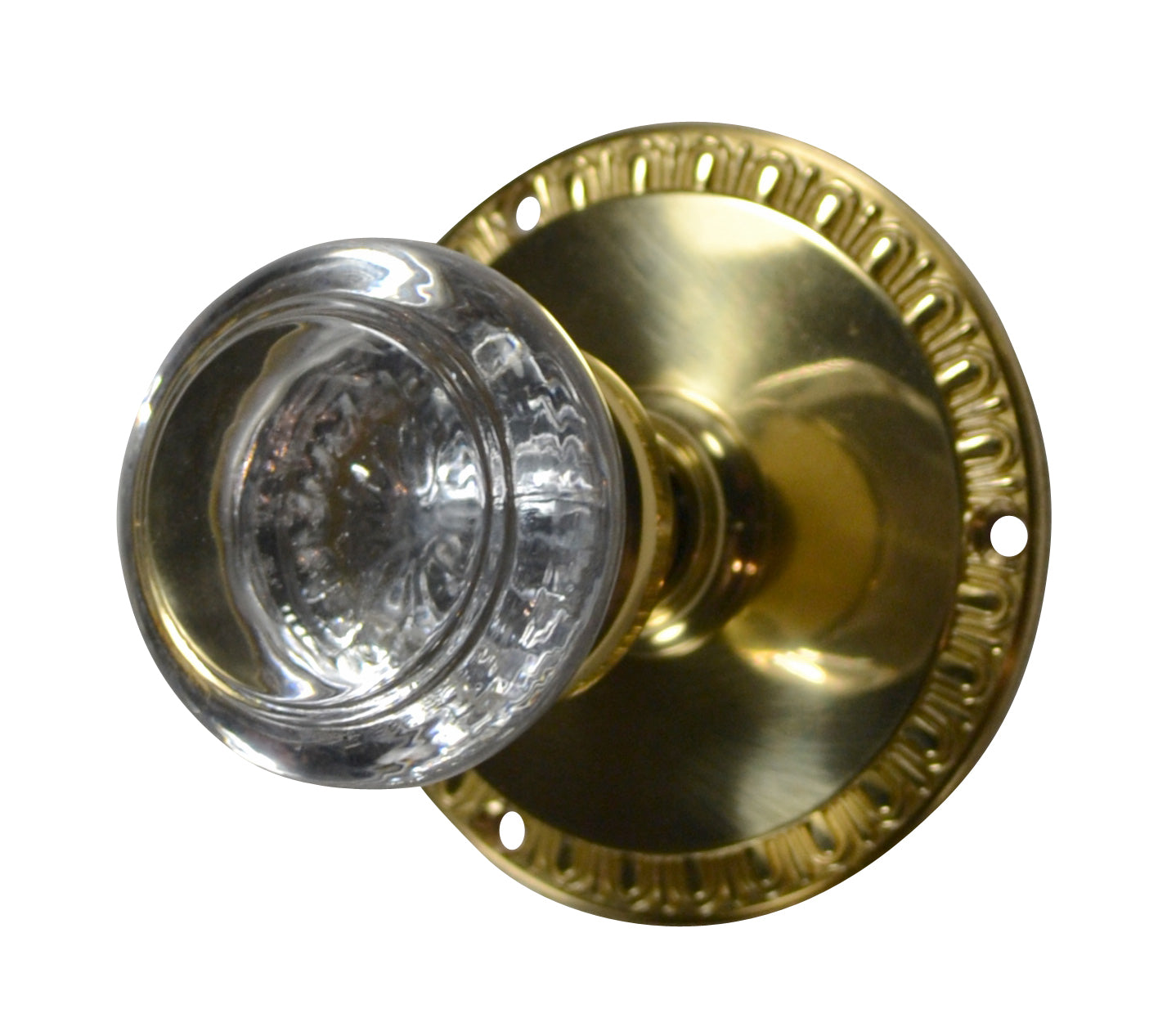 Savannah Crystal Knob with Egg & Dart Rosette