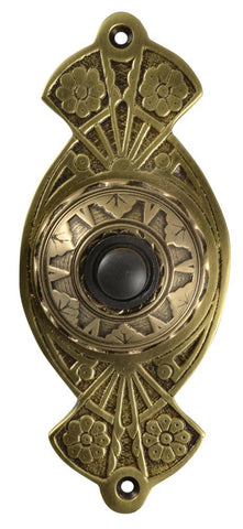 5 5/8 Inch Art Nouveau Flower Doorbell