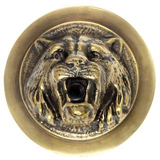 2 3/4 Inch Reproduction Lion Doorbell Push