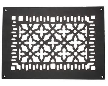 8 Inch x 12 Inch Heavy Cast Iron Victorian Style Grille