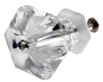 1 3/4 Inch Crystal Clear Glass Knobs