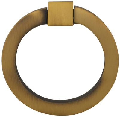 2 Inch Mission Style Solid Brass Drawer Ring Pull Hand Wrought