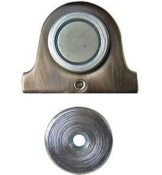 1 3/8 Inch Magnetic Dome Door Stop and Catch in Several Finishes