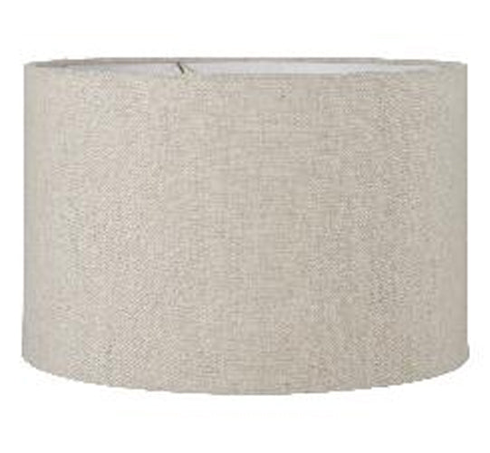 Natural Linen Drum Lampshade