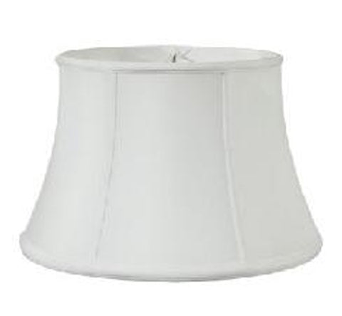 Off White Tissue Shantung Floor Lamp Shallow Drum Shade