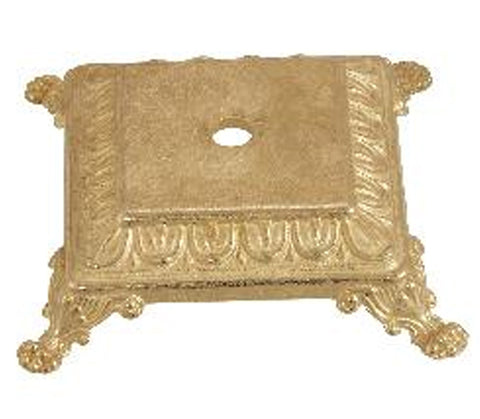 6 Inches Cast Brass Solid Square Lamp Base