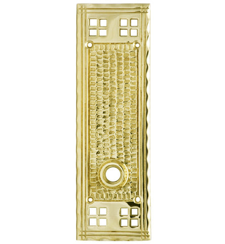 Set of Craftsman Style Solid Brass Rosette Plates