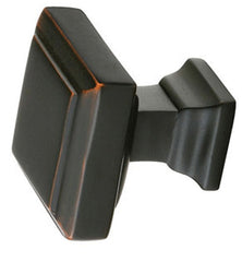 Emtek Solid Brass Geometric Square Cabinet & Furniture Knob