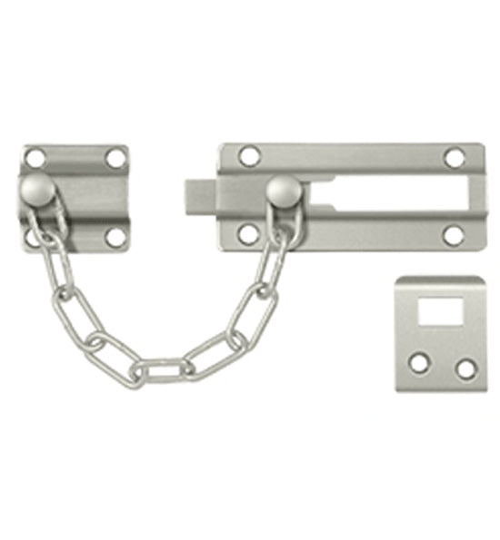 Security, Solid Brass Door Guard, Chain