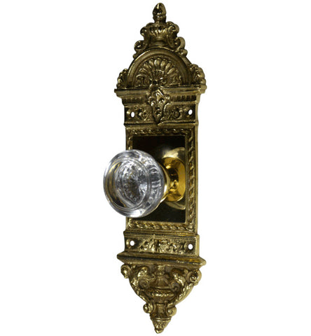 European Door Set With Round Crystal Knob