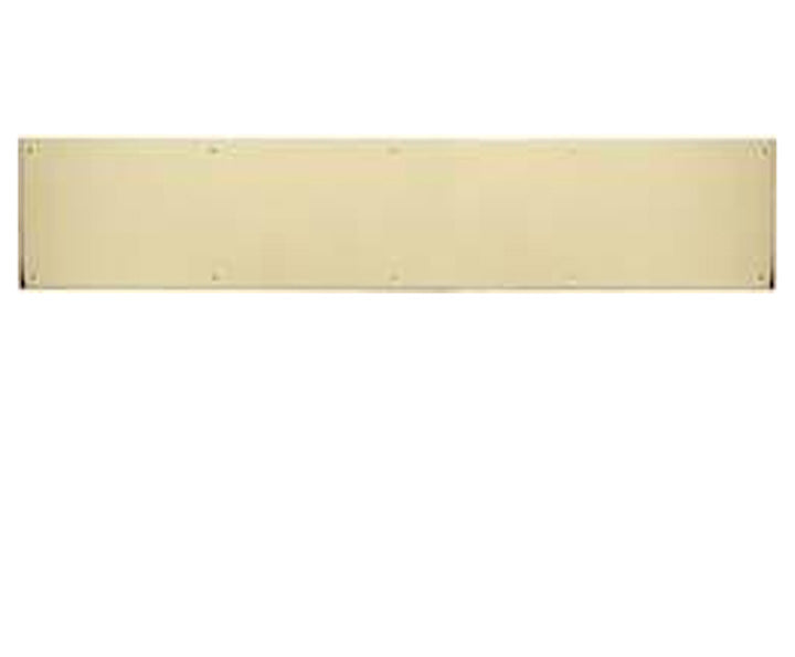 8 Inch Tall Solid Brass Kick Plate - Several Finishes Available