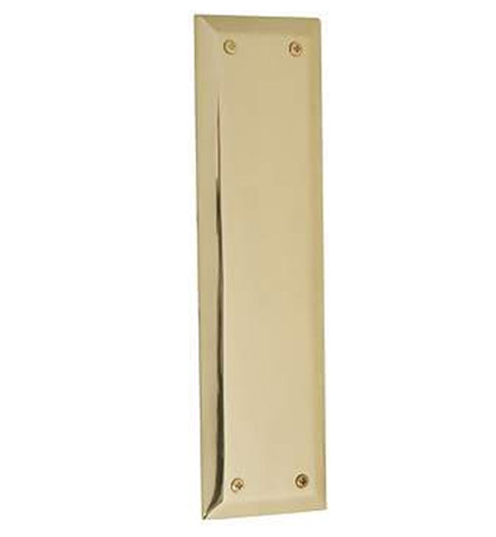 10 Inch Quaker Style Push Plate in Several Finishes