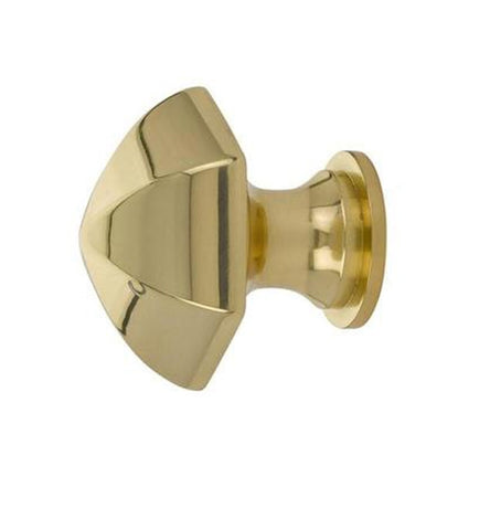 Emtek 1 1/8 Inch Solid Brass Hexagon Cabinet Knob