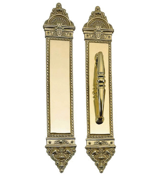 16 1/4 Inch European Style Door Pull & Push Plate Set