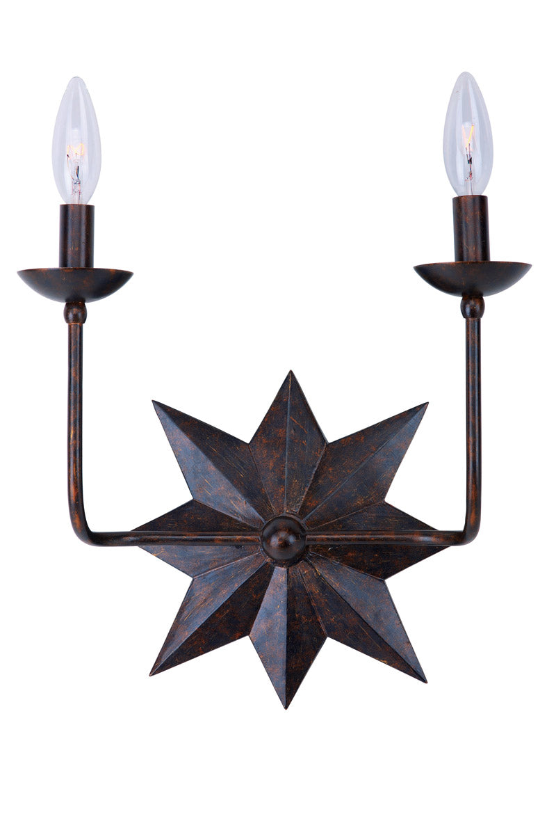Crystorama Astro 2 Light Wall Sconce