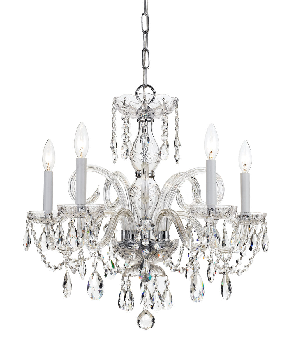 Crystorama 22 Inch Traditional Crystal 5 Light Chandelier