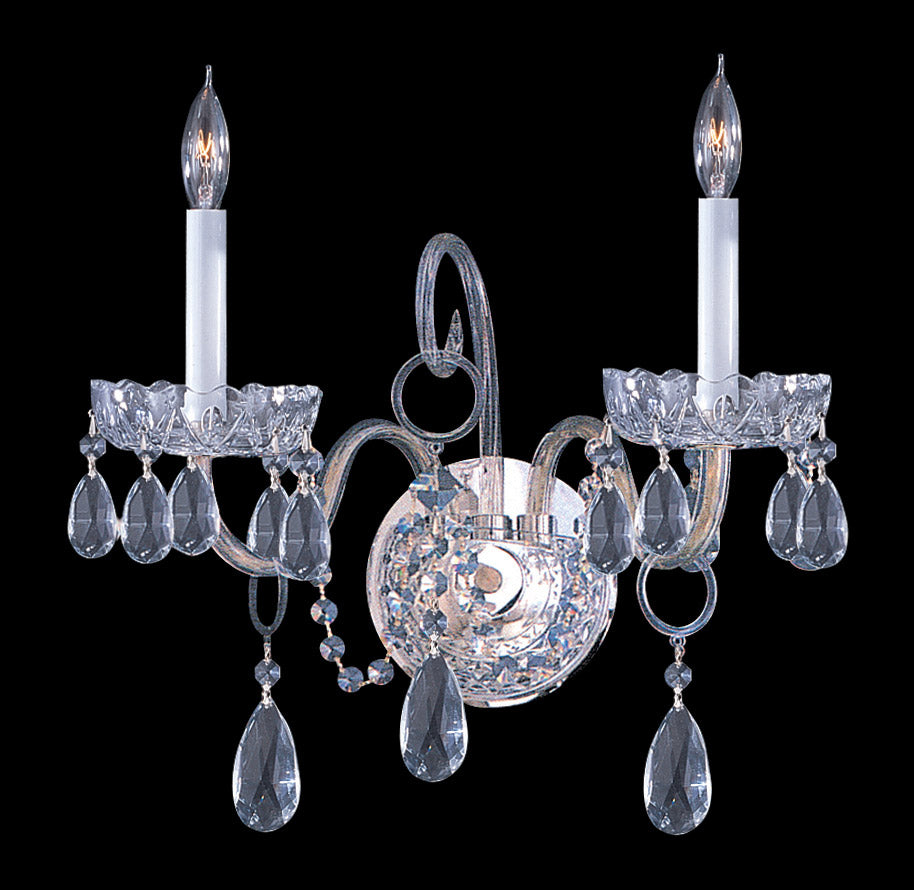 Crystorama 15 Inch Traditional Crystal 2 Light Wall Sconce