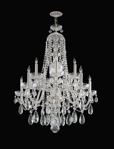 Crystorama 36 Inch Traditional Crystal 10 Light Chandelier