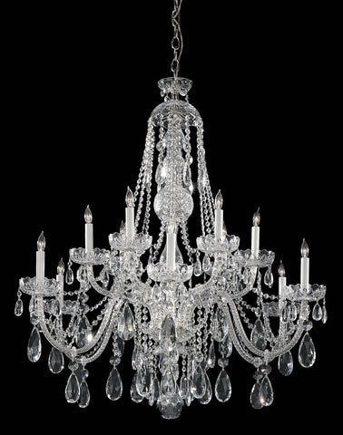 Crystorama 40 Inch Traditional Crystal 12 Light Chandelier