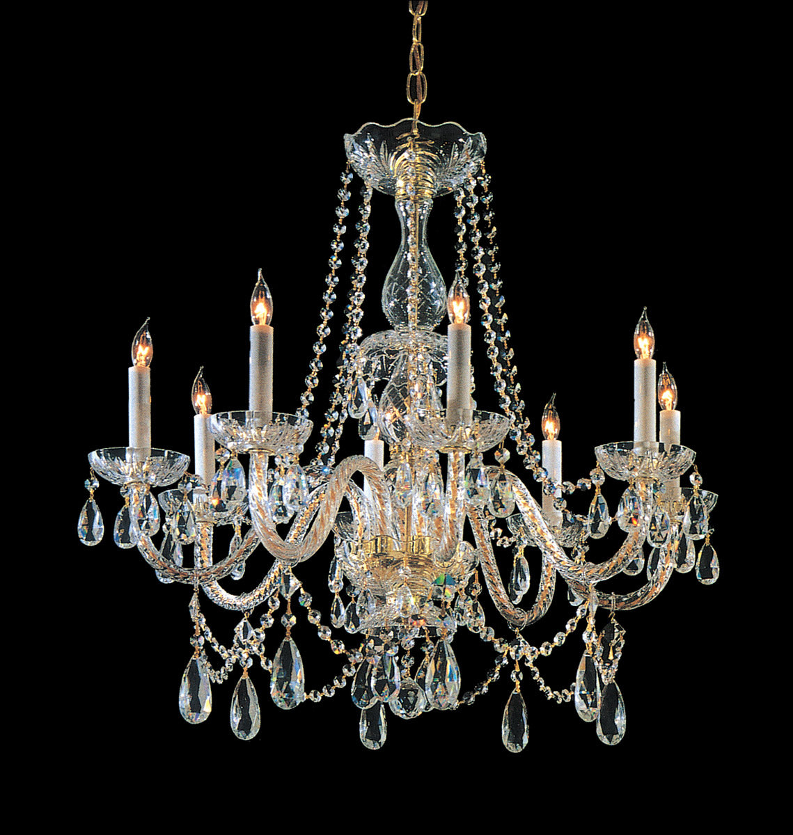 Crystorama 26 Inch Traditional Crystal 8 Light Chandelier