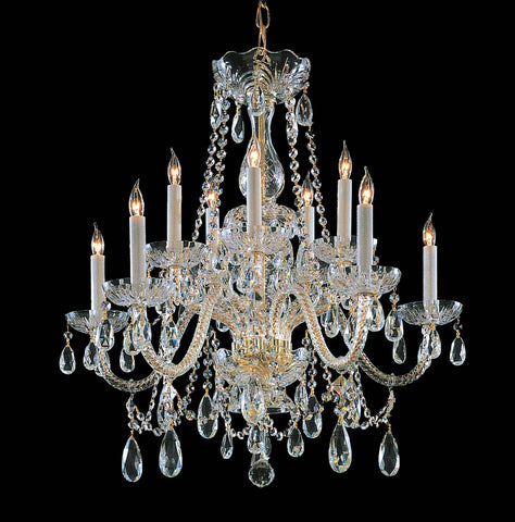 Crystorama 26 Inch Traditional Crystal 10 Light Chandelier