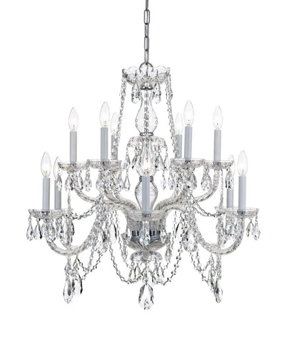 Crystorama 26 Inch Traditional Crystal 12 Light Chandelier
