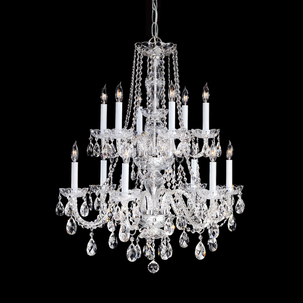 Crystorama 32 Inch Traditional Crystal 12 Light Chandelier