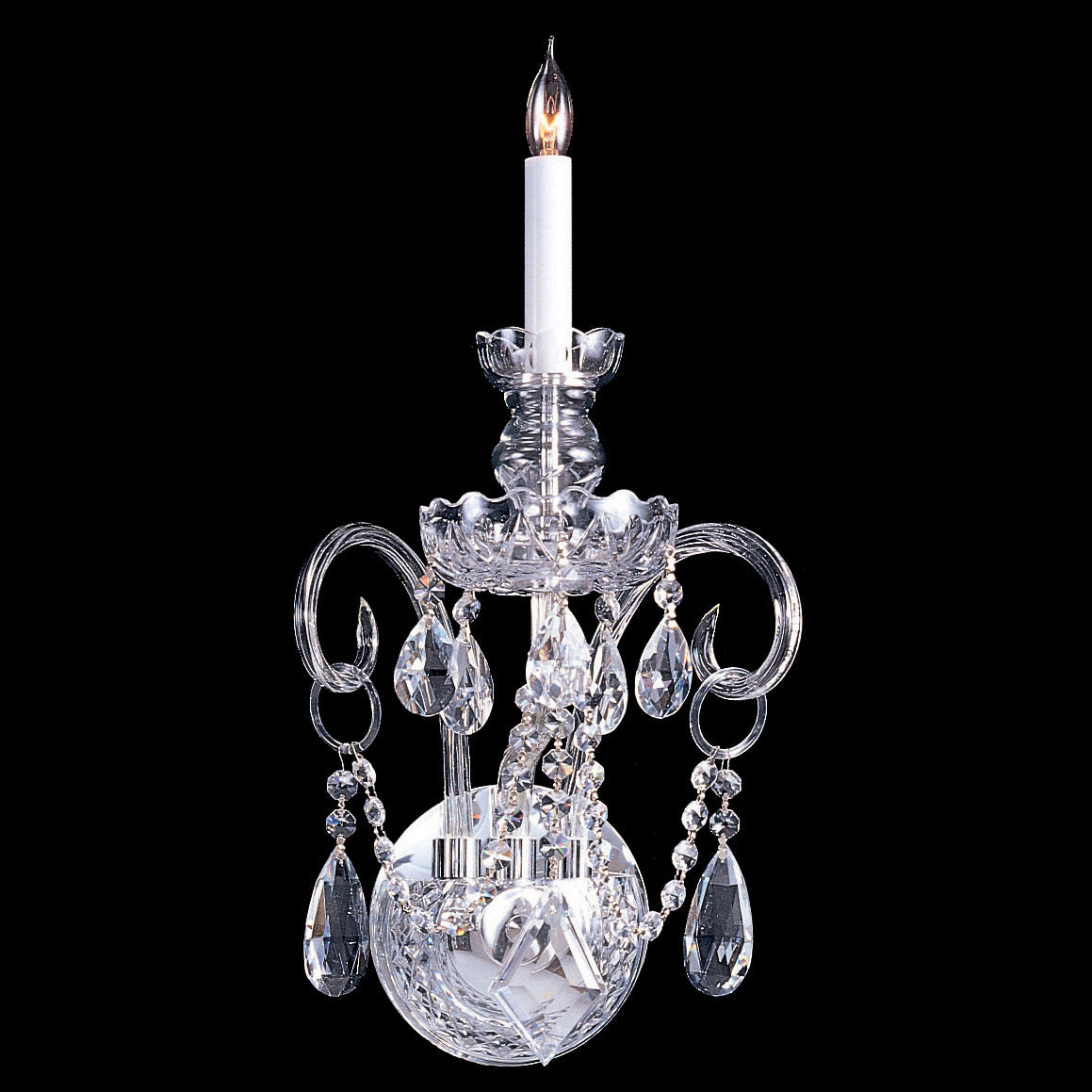 Crystorama 16 1/2 Inch Traditional Crystal 1 Light Wall Sconce