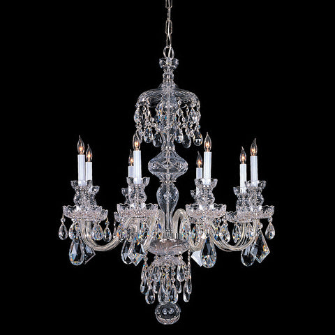 Crystorama 32 Inch Traditional 8 Light Chandelier