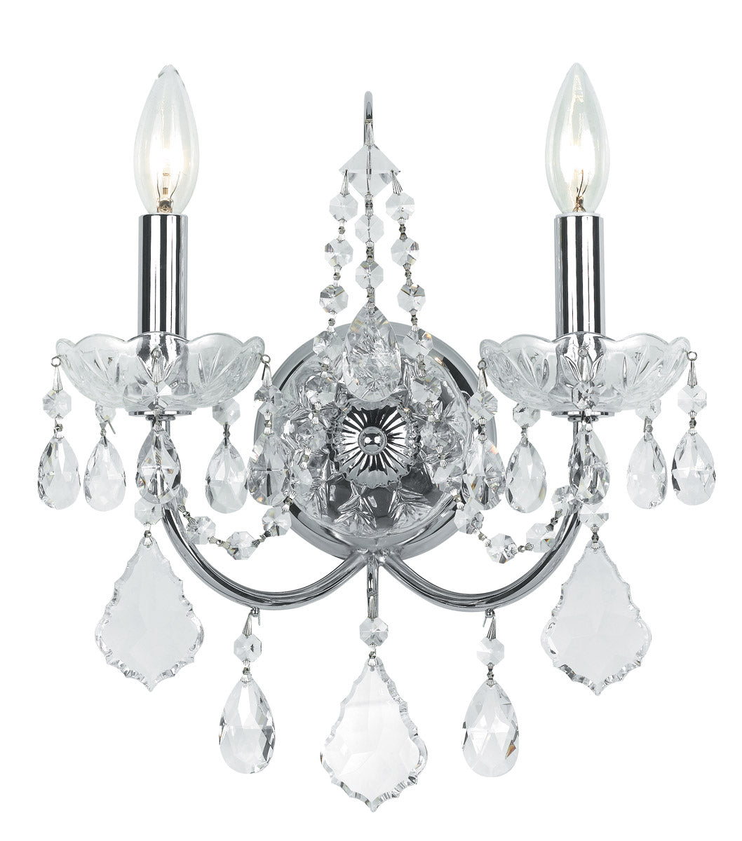 Crystorama 14 Inch Imperial 2 Light Wall Sconce