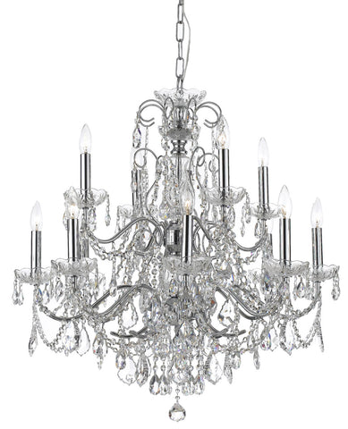 Crystorama 31 Inch Imperial 12 Light Chandelier