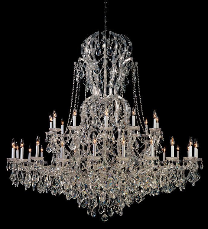 Crystorama 66 Inch Maria Theresa 37 Light Chandelier