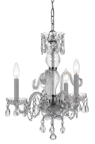 Crystorama 18 Inch Traditional Crystal 3 Light Mini Chandelier