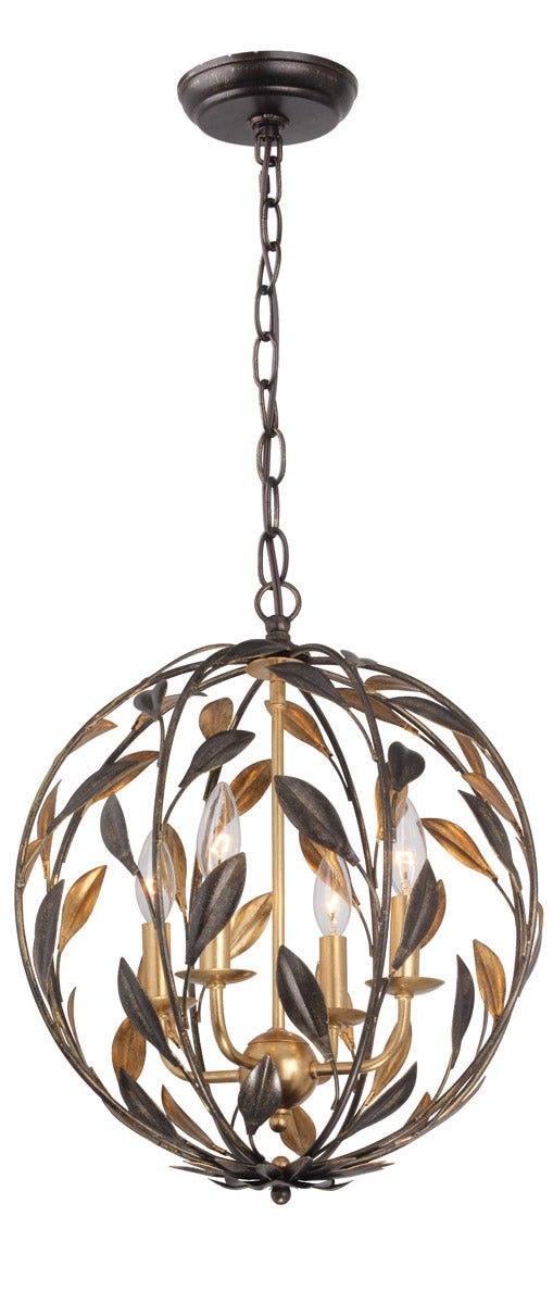 Crystorama Broche 4 Light Mini Chandelier